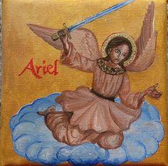 Kleines Acrylbild Leinwand Engel