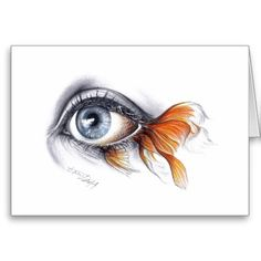 Color Pencil Drawing Ideas Eye with fish tail Surreal art Wrapped canvas - Graphite and colored pencils surrealistic drawing. Pencil Drawing Tutorials, Pencil Art Drawings, Drawing Ideas, Graphite Drawings, Drawing Tips, Fish Pencil Drawing, Cool Eye Drawings, Charcoal Drawings, Surrealism Drawing