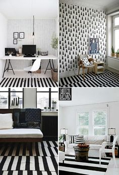 black and white home