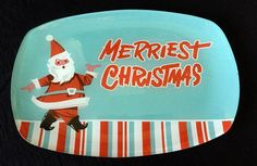"Department 56 Merriest Christmas Glass Snack Platter 12"" Brand New #Department56"