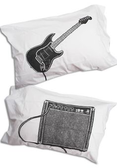 Music Lover Pillowcases-Mod Retro Indie Clothing & Vintage Clothes
