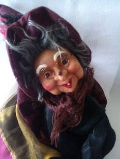 Hey, I found this really awesome Etsy listing at https://www.etsy.com/listing/181339679/vintage-witch-doll-doll-riding-hag-doll