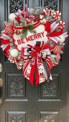 Spring Front Door Wreaths, Christmas Mesh Wreaths, Deco Mesh Wreaths, Holiday Wreaths, Ribbon Wreaths, Christmas Decorations, Winter Wreaths, Floral Wreaths, Burlap Wreaths
