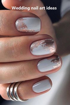 The advantage of the gel is that it allows you to enjoy your French manicure for a long time. There are four different ways to make a French manicure on gel nails. The choice depends on the experience of the nail stylist… Continue Reading → Simple Wedding Nails, Wedding Nails Design, Simple Nails, Natural Wedding Nails, Manicure E Pedicure, White Pedicure, Pedicure Ideas, Pretty Nail Art, Foil Nails