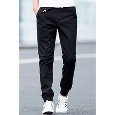 $14.60 Beam Feet Beads Embellished Zipper Fly Men's Pants