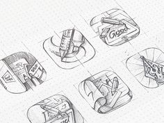 14 Sketches of Icons Before They Are Computerized