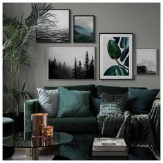 in the group Inspiration Living room at Desenio AB Home Decor Pictures, Living Room Pictures, Living Room Murals, Living Room Decor, Home Design, Diy Design, Wall Design, Green Dining Room, Mad About The House
