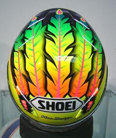 Scott Russell helmet Motorcycle Helmet Design, Racing Helmets, Motorcycle Helmets, Shoei Helmets, Arai Helmets, Helmet Paint, Custom Airbrushing, Custom Helmets, Riding Gear