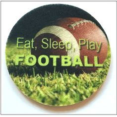 Eat, Sleep, Play Football Car Coasters