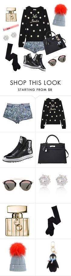 """Untitled #191"" by ivanov1234491 ❤ liked on Polyvore featuring Chinti and Parker, Puma, Hermès, Christian Dior, River Island, Gucci, Tory Burch and Too Faced Cosmetics"
