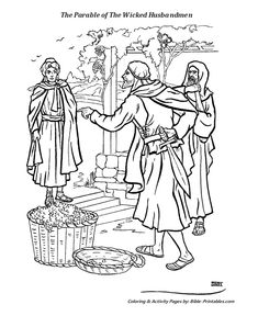 Colouring page for parable of the pearl of great price