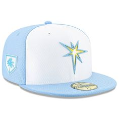 new arrivals 946e0 2a209 Men s Tampa Bay Rays New Era White 2018 Spring Training Collection Prolight  Fitted Hat