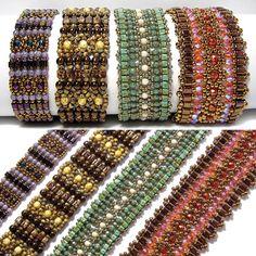 Deb Roberti's Cube Brocade Bracelets at AroundTheBeadingTable.com