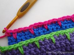 Fiber Flux...Adventures in Stitching: How to Crochet Blanket Stitch Edging