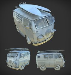 Cartoon bus WW by Lukasz Michalczyk, via Behance