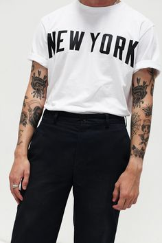 "themaxdavis: "" White New York Tee Photography by Adrilaw.com Stampdla.com """