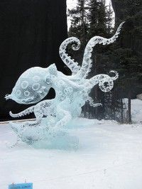 ice art. COOL art with power tools (: