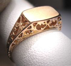 Hey, I found this really awesome Etsy listing at https://www.etsy.com/listing/155684744/antique-gold-signet-ring-wedding-vintage