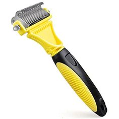 Dog Grooming Brush Stainless Steel Comb for Cats Dogs 2 Sided Professional Pet Dematting Comb Undercoat Rake Removes Mats Tangles Knots -- You can get more details by clicking on the image. (This is an affiliate link) #Dogs