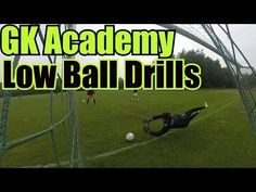 A goalkeeper dive can be broken down into a few large steps, Goalie ready positioning, power step, catch/parry, and landing. These drills focus on the goalke. Fun Soccer Drills, Soccer Goalie, Football Drills, Soccer Skills, Soccer Coaching, Soccer Tips, Soccer Cleats, Goalkeeper Training, Soccer Training