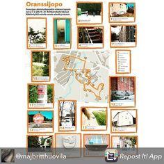 Tänään klo 18-20 oranssijopo retki Nikkilässä! Oranssijopo utfärd i Nickby i dag kl. 18-20!  #Repost from @majbritthuovila using @RepostRegramApp - Oranssijopo Nikkilän retken kartta @sipoonsanomat #oranssijopo  #kartta #retki #retro #muistojennikkilä #nikkilä #sipoo
