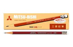 Mitsubishi Uni 9850 Pencil with Eraser - HB. by niconecozakkaya on Etsy