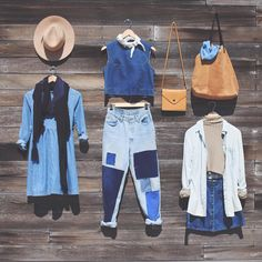 Fall blues.  Which is your fave? #UOonYou #urbanoutfitters