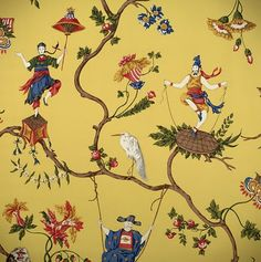 82 Best Yellow Chinoiserie Images On Pinterest