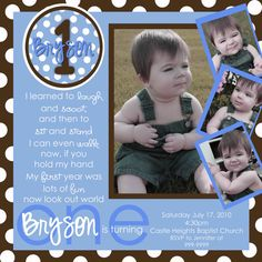 Boy's First Birthday by marcylauren on Etsy, $20.00