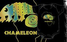 Chameleon onesie by Samuel Sheats