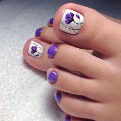 Pedicure Nail Designs, Pedicure Colors, Toe Nail Designs, Manicure And Pedicure, Pedicure Ideas, Nails Design, Purple Pedicure, Pedicure Pictures, Nail Colors