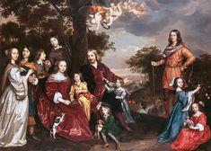 Family portrait of Willem van Kerckhoven (ca. 1655) painted by Johannes Mijtens