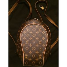 """Louis Vuitton backpack Vintage but in excellent condition. Had to redo the straps due to some signs of wear. As shown in the picture, the straps were replaced with the new matching leather ones. No other signs of wear; comparatively clean inside (as you see some minor signs of wear what it normal for its age). Pet free and smoke free home. Love this backpack but it is quite small and does not fit everything I like to carry with me ;) size 11"""" * 5"""". Note: it was a gift, so I can't respond for…"""