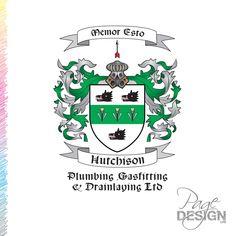 Logo design for Hutchison Plumbing, Rotorua, NZ Page Design, Plumbing, Graphic Design, Logos, Logo, Visual Communication