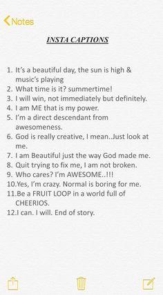 Super Ideas Short Quotes For Selfies Instagram Bio Quotes, Insta Bio Quotes, Funny Bio Quotes, Instagram Captions For Friends, Good Instagram Captions, Cool Bios For Instagram, Funny Selfie Captions, Cool Captions, One Word Caption