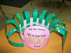 First Grade School Box: 100th Day of School Hat