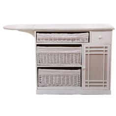 Mueble de Plancha 3 Cestos Blanco