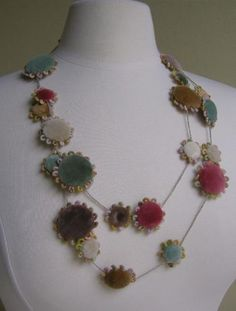Pastilles Velours Necklace by Sophie Digard- many more of her sweet things on this site.