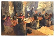 The last Supper watrcolor by Roni Kane