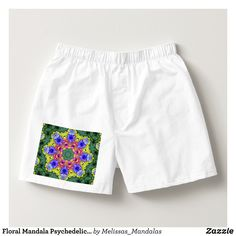 Floral Mandala Psychedelic Kaleidoscope Boxers - Dashing Cotton Underwear And Sleepwear By Talented Fashion And Graphic Designers - #underwear #boxershorts #boxers #mensfashion #apparel #shopping #bargain #sale #outfit #stylish #cool #graphicdesign #trendy #fashion #design #fashiondesign #designer #fashiondesigner #style