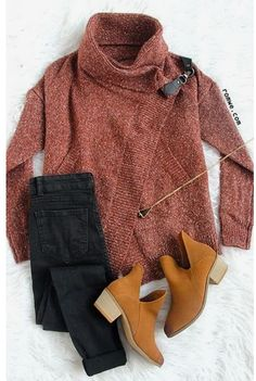 Red Lapel Long Sleeve Ouch Cardigan Sweater - Street Fashion, Casual Style, Latest Fashion Trends - Street Style and Casual Fashion Trends Looks Style, Looks Cool, Mode Outfits, Fashion Outfits, Womens Fashion, Fall Winter Outfits, Autumn Winter Fashion, Fall Sweaters, Look Fashion