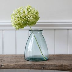 The simple shape of the Wells Flower Vase Small is crafted in recycled glass Glass Flower Vases, Glass Vase, Hygge, Vase Shapes, Simple Flowers, Simple Shapes, Window Sill, Recycled Glass, Vases Decor