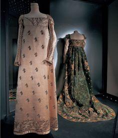 Abito di corte appartenuto a Giulia Clary; Mantello per abito di corte appartenuto a Letizia Ramolino, 1804-14