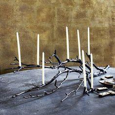 Manzanita Candelabra - Black   west elm
