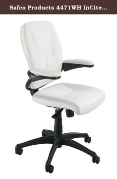 Safco Products 4471WH InCite Mid Back Chair, White. InCite workplace productivity with elegant comfort that will last throughout the day. This beautifully designed executive chair has leather upholstery with padded arms that bring added support to help everyone feel a little more relaxed. The metal accents draw attention, while the leather upholstery lures them in. InCite is available as a high back with headrest or mid back chair. The chair features a swivel seat, pneumatic height...