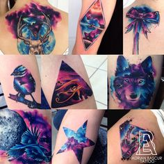 ▷ 1001 + ideas for a beautiful watercolor tattoo you can steal - photo collage, side by side photos, watercolor flower tattoo, galaxy tattoos - Form Tattoo, Shape Tattoo, Tattoo You, Creative Tattoos, Unique Tattoos, Beautiful Tattoos, Finger Tattoos, Body Art Tattoos, Sleeve Tattoos