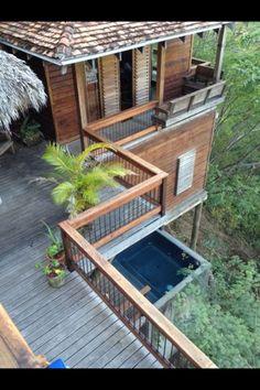 Aqua Wellness Resort #Nicaragua (Playa Gigante)  Treehouse villas with private plunge pools #beach #yoga #foodie http://aquanicaragua.com/villas-treehouse/ More at http://thegirlandglobe.com/nicaraguan-wishlist/