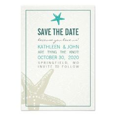 Best Starfish Beach Save the Date Invitations Discount DealsReview on the This website by click the button below...