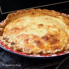 Gooseberry Patch Recipes: Classic Quiche Lorraine. A tried & true recipe that's perfect for either breakfast or dinner.