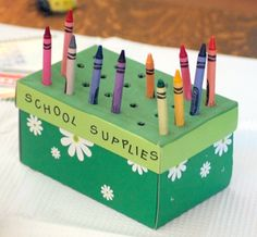 Crayon box  http://craftsartsandcrafts.com/back-to-school-crafts-for-kids-arts-and-crafts-projects-for-children-to-prepare-for-school/